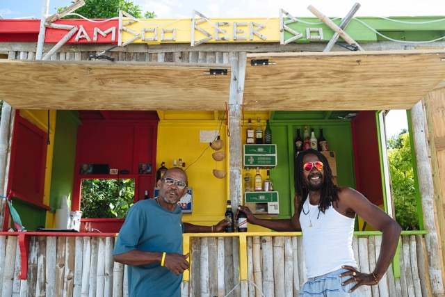 Lime the day away with the owners of Anguilla's Bamboo Beer Box. Image courtesy Bamboo Beer Box.