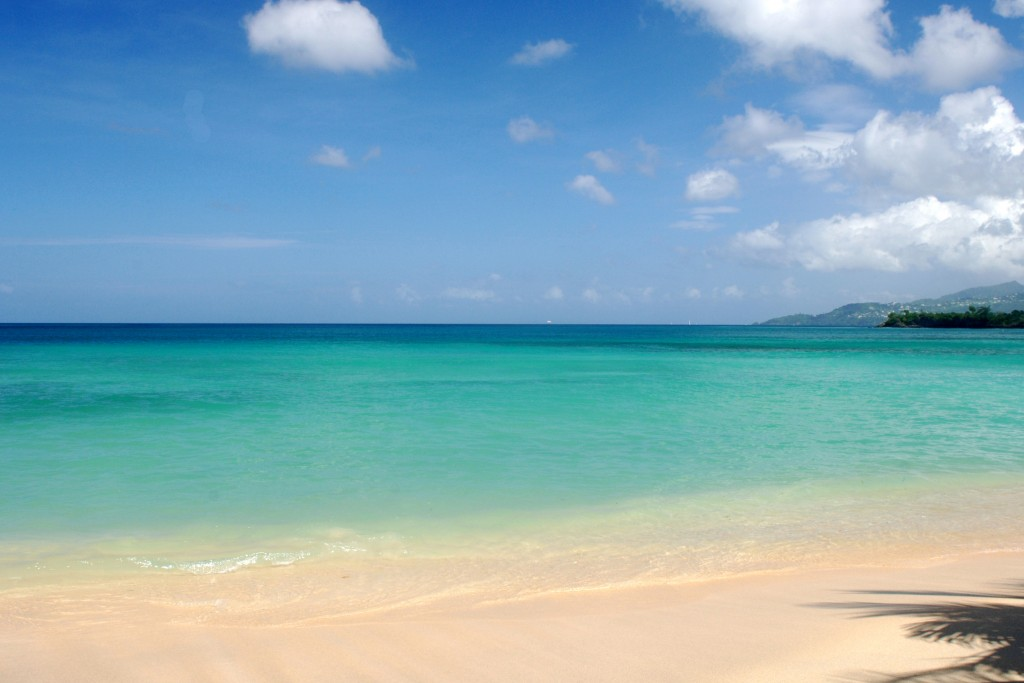 View of Grand Anse Beach. Courtesy  Grenada Board of Tourism.