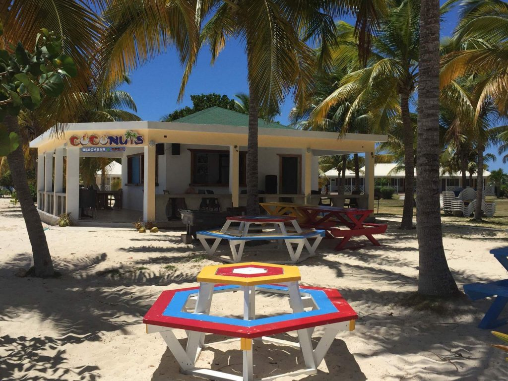 Plenty of seating at Coconuts Beach Bar, Anguilla Great House