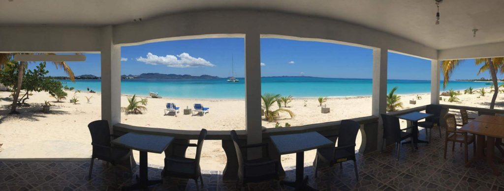 View of Rendezvous Bay from Coconuts Beach Bar, Anguilla Great House