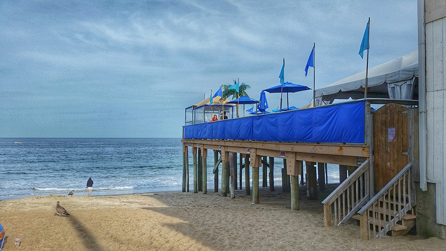 View of SurfSide beach bar in Salisbury Beach, Massachusetts
