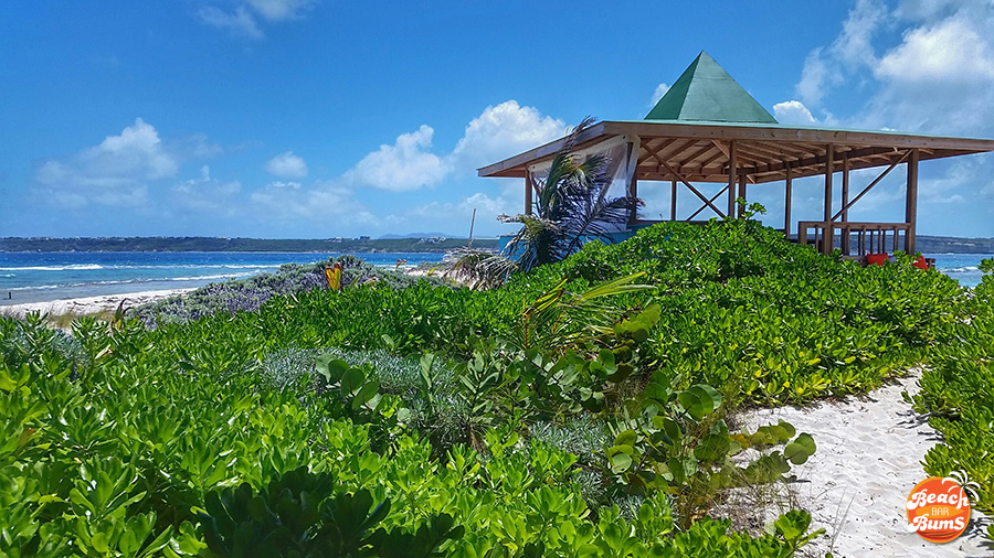 View from behind the gazebo at Sandy Island, Anguilla