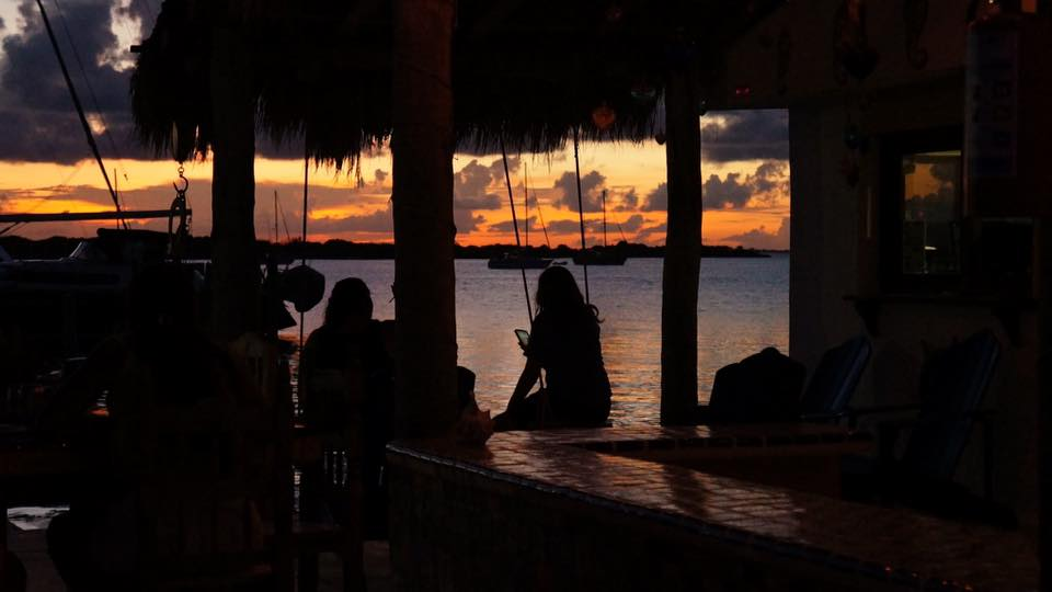 Sunset at El Milagro Beach Hotel and Marina, Isla Mujeres, Mexico. Photo courtesy Sean Sheridan.