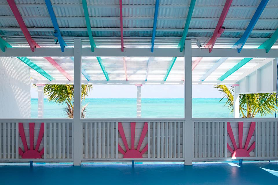 beach bar, providenciales, turks and caicos, caribbean
