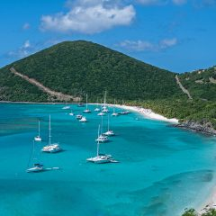 Twelve Minutes Over White Bay on Jost Van Dyke in the British Virgin Islands