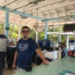 beach bar, bahamas, rose island