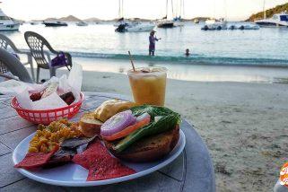 Twenty Plus Seconds at the Reopened Beach Bar in Cruz Bay, St. John