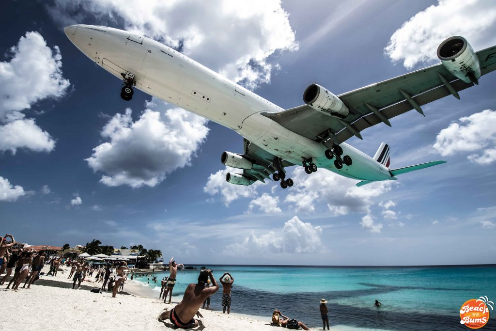 caribbean, plane, beach wallpaper