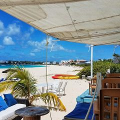 Enjoying the View at Waves Beach Bar in Anguilla