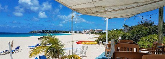 Enjoying the View at Waves Beach Bar in Anguilla