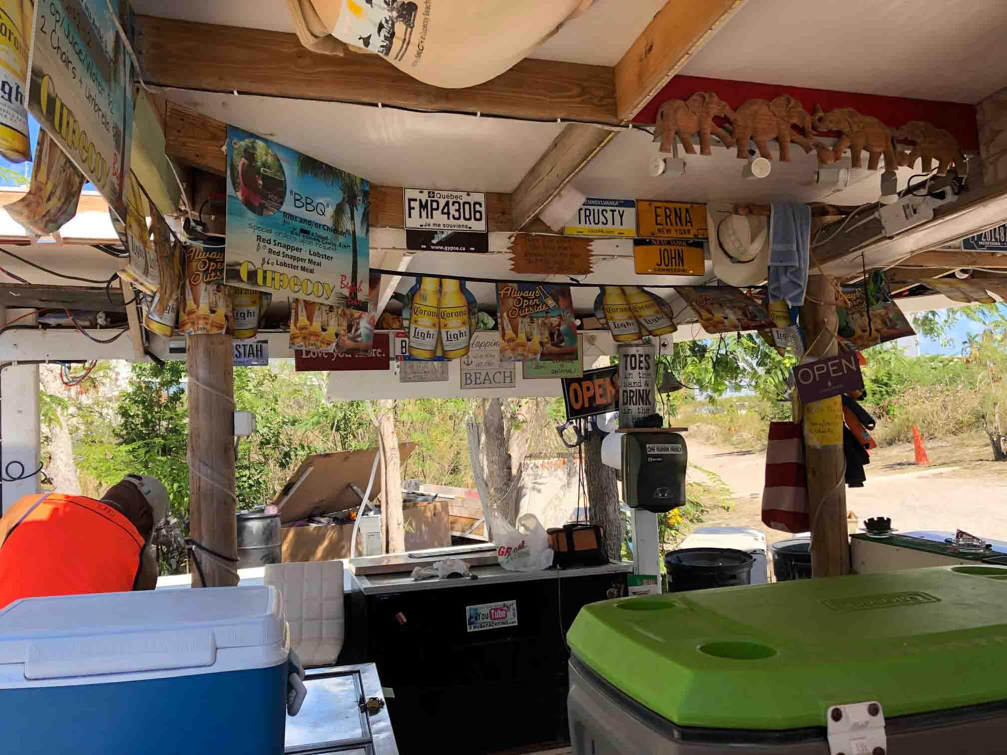 beach bar, caribbean. st. maarten