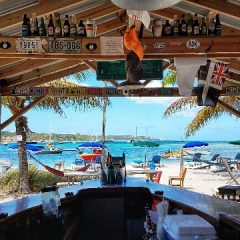 Beach Bar Pic of the Week – Behind the Bar at Elvis' Beach Bar, Anguilla