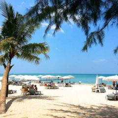 Enjoying the Andalay (Andalea) Bar on Sunset Beach, Khao Lak, Thailand