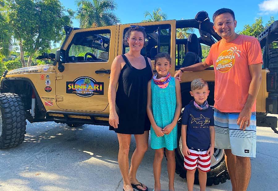 sunfari jeep tour st. john st. thonmas usvi